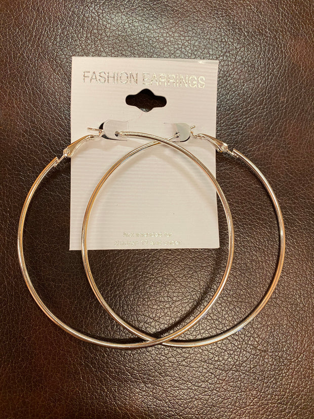 ER-C {Low-Key Luxe} Silver Hoop Earrings
