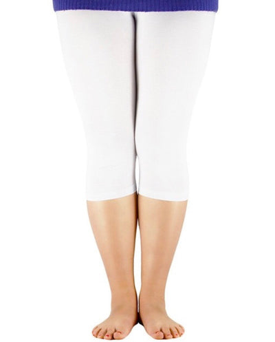 SLS/30 {Wake Me Up} White Cotton/Spandex Capri Leggings