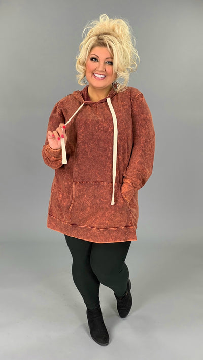 HD-M {Bonfire Nights} Persimmon Mineral Wash Hoodie SALE!