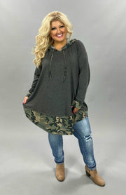 11-03 HD-D {Strongest} Grey Camo Hoodie CURVY BRAND EXTENDED PLUS SIZE 3X 4X 5X 6X