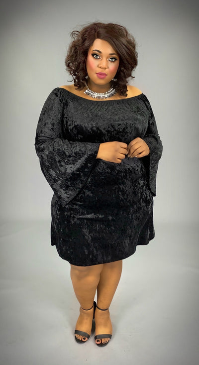 SLS-K {Unchained Melody} Black Crushed Velvet Dress SALE!!