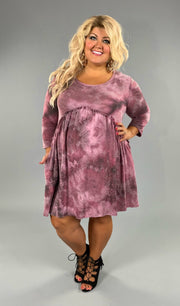 PQ-B Soft Mulberry Tie-Dye Babydoll Dress SALE!!