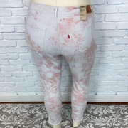 BT-O {Levi's} Pink Tie-Dye Denim Stretchy High-Rise Jeans
