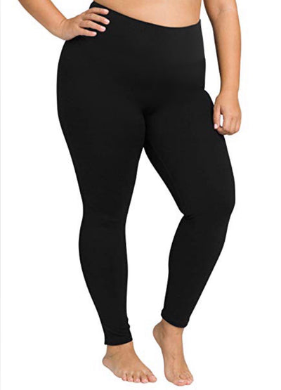 PSS/15 (Love Me Softly) Black Microfiber Leggings (SOFT)