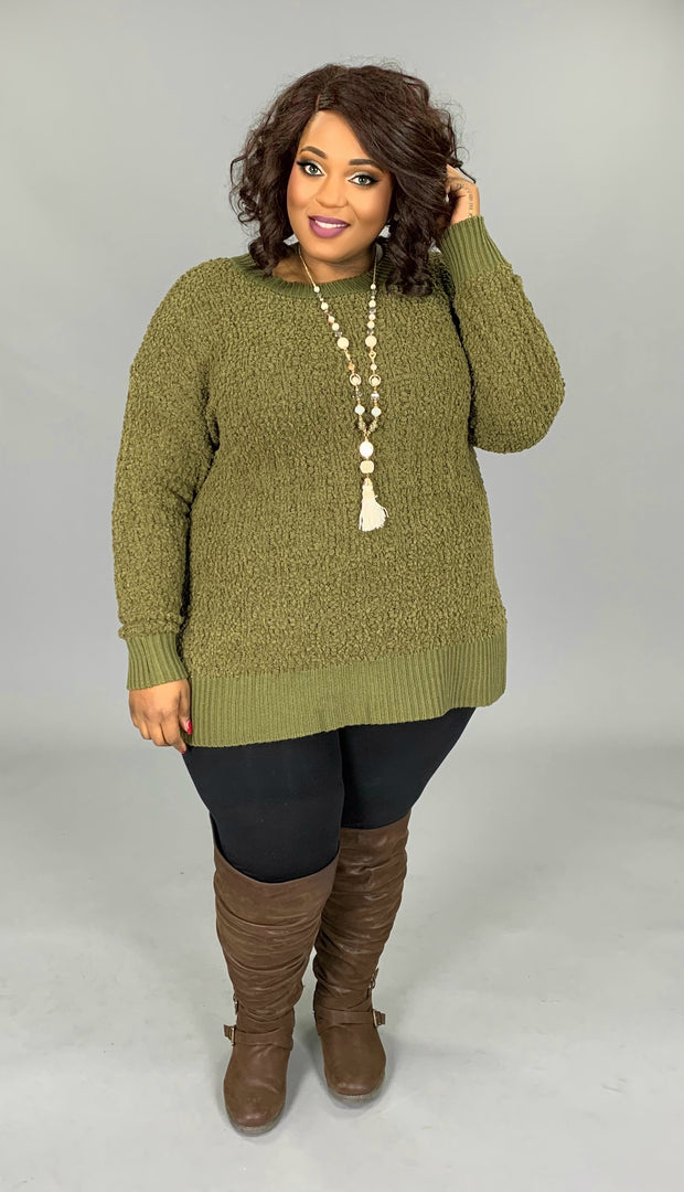 SLS-A {Simple Solution} Olive Popcorn Sweater SALE!!