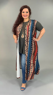 OT-D (Being Bold) Multi Color Leopard Print Vest PLUS SIZE 2X/3X
