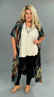 "OT- G ""UMGEE"" Black/Multi Feather Print Cardigan SALE!!"