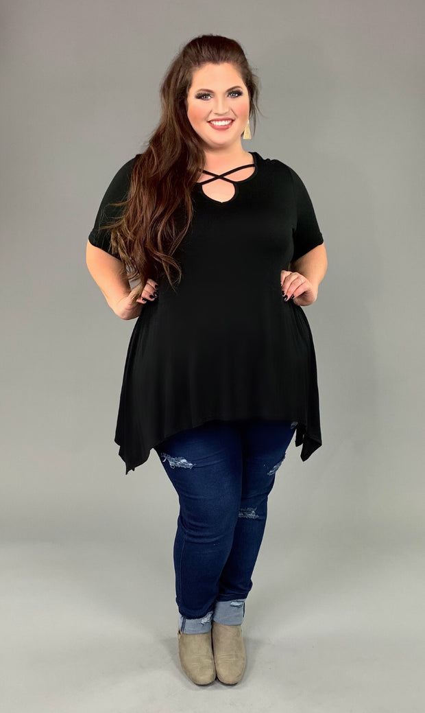 "SSS-A ""Been That Way"" Black Criss Cross Asymmetrical Tunic SALE!!"