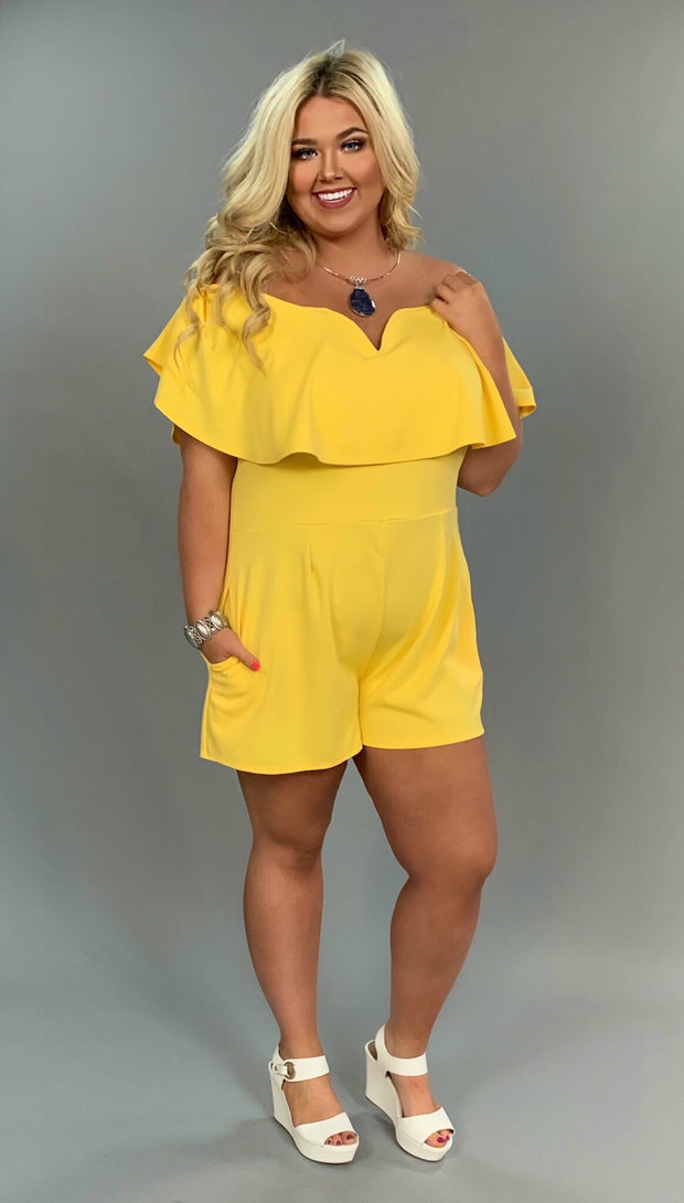 RP-M {Pure Coincidence} Yellow Romper with Pockets SALE!
