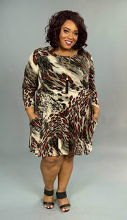PQ-G {Grand Finale} Animal Print Dress with Pockets Extended Plus