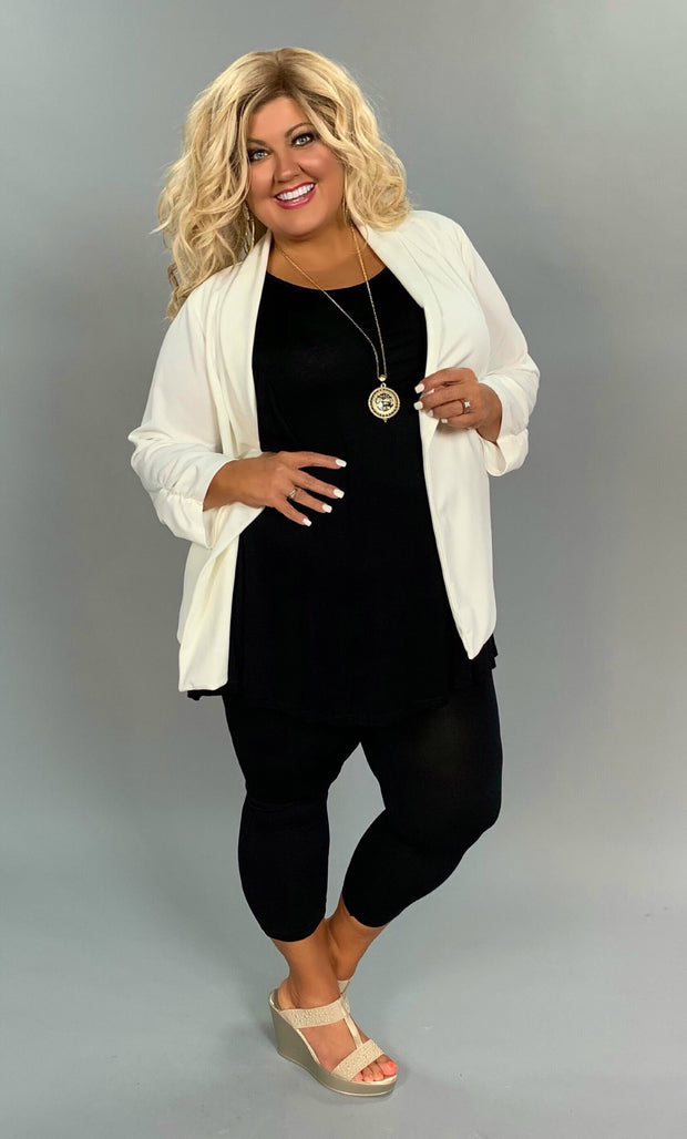 OT-D {Lush Fashion} Ivory Dress Jacket with Crochet Back  SALE!!