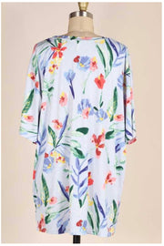 SET-D {A Night To Myself} Lt. Blue Floral Loungewear PLUS SIZE 1X 2X 3X SALE!!