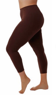 LEG/B -YELETE Brown Capri Leggings (92 Poly 8 Spandex)