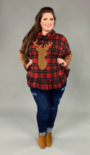 GT-M {Let's Ride The Back Roads} Red Plaid Top with Deer  SALE!!