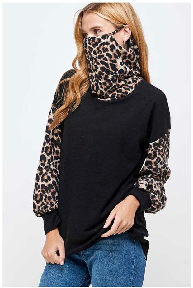 11 CP-A {Cat Ears} Leopard Black With Mask  SALE!! PLUS SIZE L XL 2X