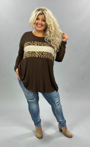 42 CP-G {Animal Within}  Brown Leopard  Glitter Top SALE!! CURVY BRAND EXTENDED PLUS SIZE 3X 4X 5X 6X