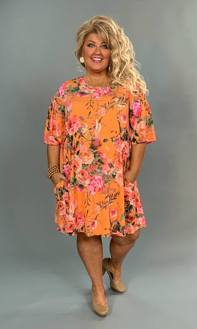 PQ-Q {For Good Measure} Mango Floral Wide Sleeve Dress