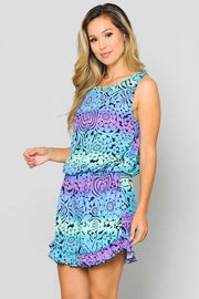 RP-J {Total Eclipse} Purple, Blue, Aqua, & Mint Printed EXTENDED PLUS SIZE 3X 4X 5X SALE!!
