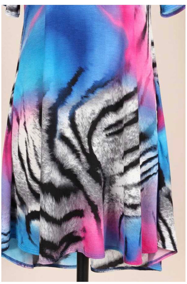 PSS-E {A Little Wild} Fuchsia/Blue Animal Print Dress PLUS SIZE 1X 2X 3X SALE!!