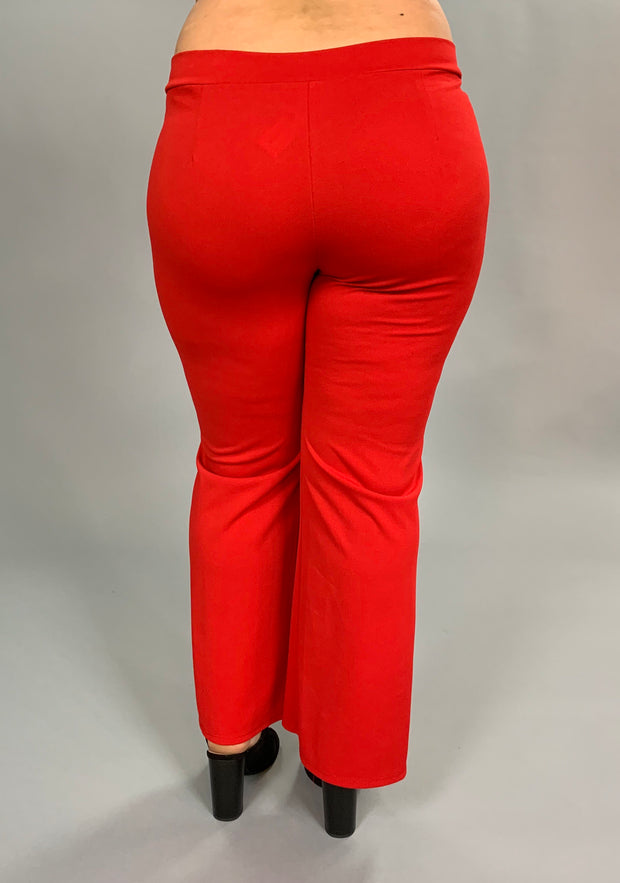 "BT-R ""How Lovely"" Red Pants With Bow Front Detail PLUS SIZE SALE!"