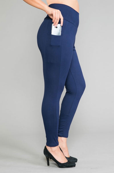 42 BT-D {Bring It All} Navy Yoga Pants EXTENDED PLUS SIZE 4X 5X 6X