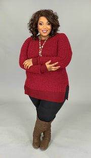 SLS-R {Simple Solution} Cabernet Popcorn Sweater SALE!!