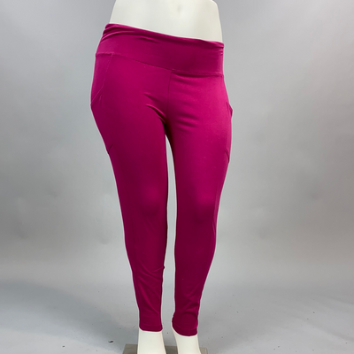 Leg-04 (Get It Done) Magenta Leggings PLUS SIZE XL 2X 3X