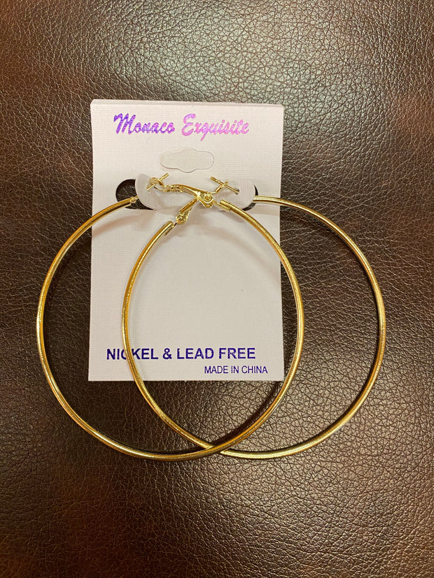 ER-B {Low-Key Luxe} Gold Hoop Earrings