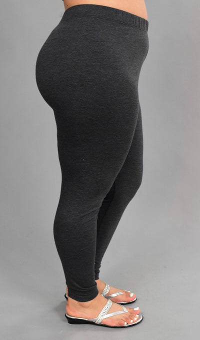 PSS/10 {End Of Story} Charcoal Gray Leggings Cotton/Spandex