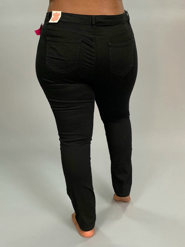 "BT-A ""Wax"" Black Basic Denim Stretchy Jeans PLUS SIZE SALE!!"
