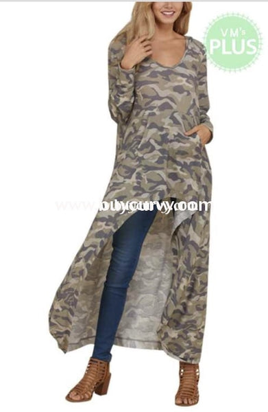 Ld-J {Fun & Fabulous} Camo Hi-Lo With Front Pocket Sale!! Long Dress