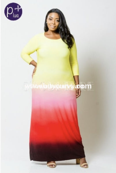 Ld Make A Difference Yellow Ombre Maxi {Sale!!} Long Dress