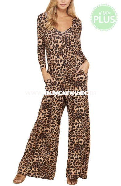 Ld-O {Moves Like Jagger} Cheetah Print Jumpsuit With Hood Long Dress