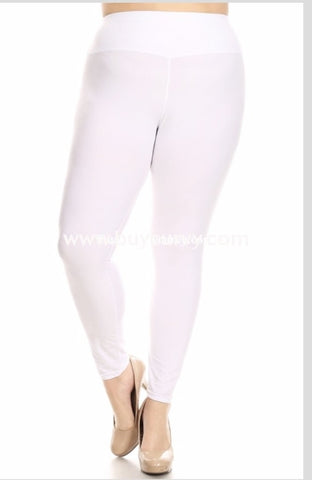 Leg-Gt {My Lucky Day} White Poly/spandex Soft Leggings