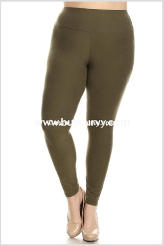 b6417e4ecbd8b Leg-Pq {My Lucky Day} Olive Poly/spandex Soft Leggings