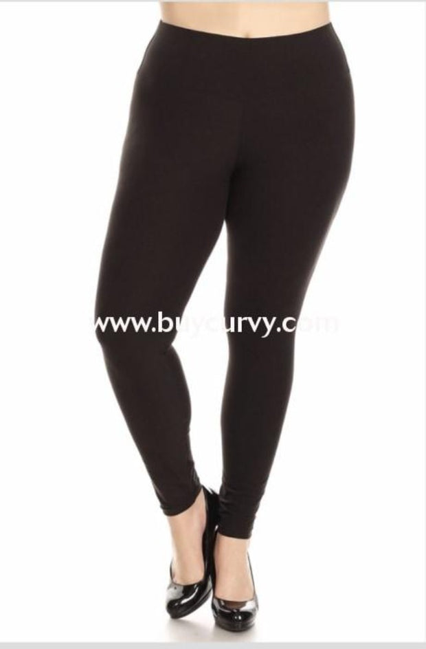 Leg-Pq2 Black Leggings {The Real Mccoy} Soft! Leggings