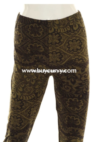 Leg/ Pq2 {Youre Gonna Love These} Black & Olive Leggings Extended Plus