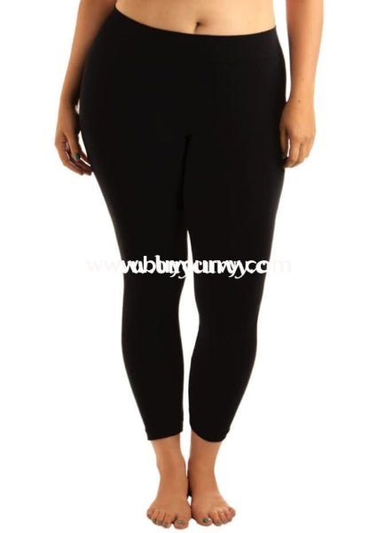 Leg/gt- Bozzolo Black Leggings 95% Cotton/5% Spandex
