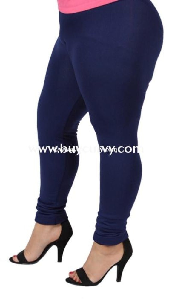LEG-L {Soft Haven} Navy Butter Soft Full Length Legging BUTTER SOFT X-PLUS