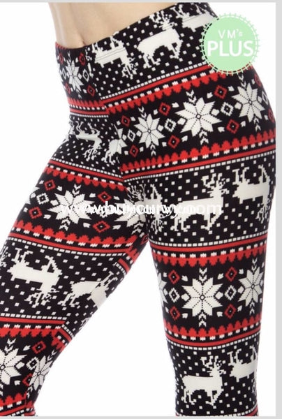 Leg/gt Home For Christmas Black/red (Soft) Leggings