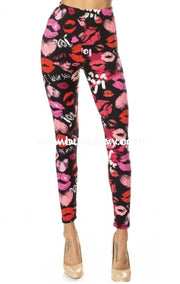 Leg/pls {Just Three Words} I Love You Leggings With Lips