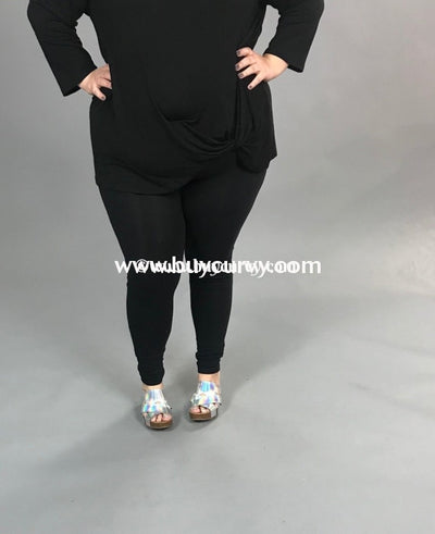 Leg/pls- Zenana Black Leggings (Cotton/spandex)