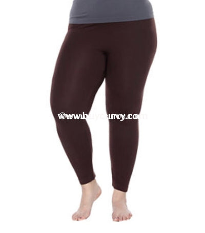 Leg/pq Design Usa Brown Leggings (Soft & Stretchy!) Extended