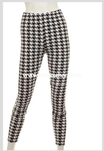 Leg/pq2 {Shes Classic} Houndstooth Leggings {Extended Plus}