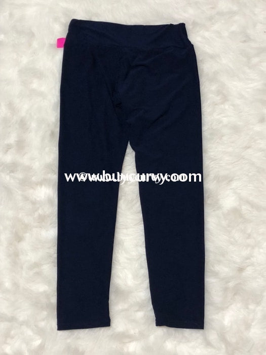 Leg/pss Love Sweet Navy (Soft) Leggings With Waistband