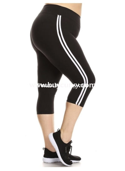 Leg/sd-Black Always Leggings With Double Stripe Sides