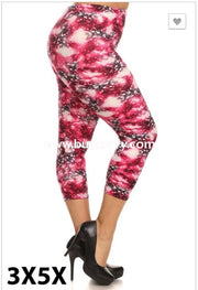 Leg/sd- {Extended Plus} Pink/navy Galaxy Capri Leggings (Soft)