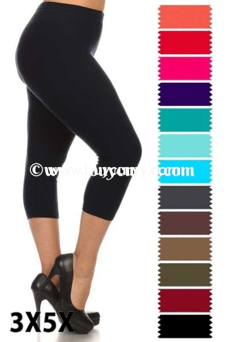 Leg/sd-{Extended Plus} Red Leggings (92% Poly/8% Spandex)