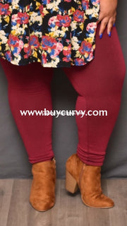 Leg/sls-Boysenberry French Terry Tummy Control Leggings