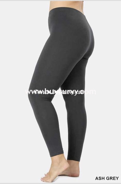 Leg/sls {End Of Story} Charcoal Gray Leggings Cotton/spandex